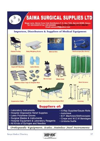 Page 99 - Kenya Medical Directory 2018-19 Edition